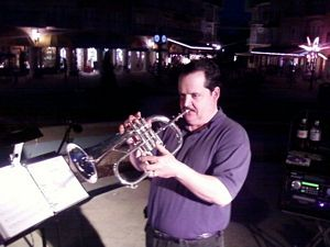 James L Paris playing trumpet - Pay Pal Account, American Express Card, Discover Card, eBay Affiliate Program