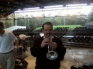 James L Paris playing trumpet - Commission Junction, Internet Income Opportunities