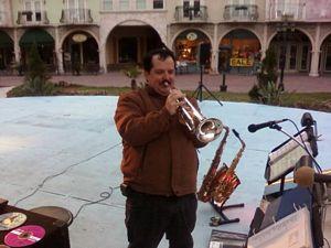 James L Paris playing his trumpet - Facebook, MySpace, Blogspot, Twitter