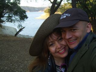 Patrick & Anna hiking at Lake Cachuma near Solvang, CA – Law of Attraction, The Secret Book